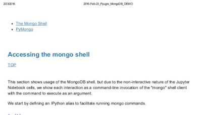 https://github.com/mjbright/jupyter_notebooks/tree/master/2016-Feb-23_Pyugre_UsingMongoDBAndPython