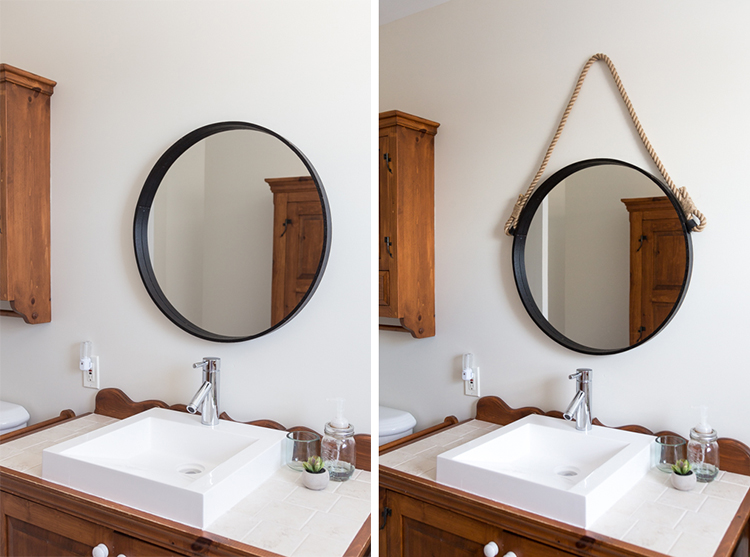 Rope mirror | Tutorial | Bathroom makeover | Home Decor | DIY | Easy | Simple