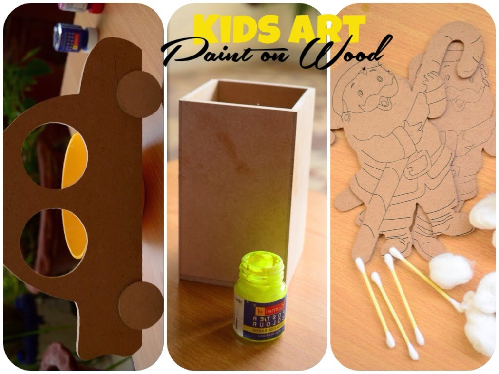 Kids Art Paint on Wood by The Practical Mom