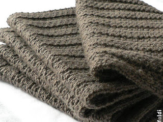 truffle camel ribbed scarf machine knitted passap