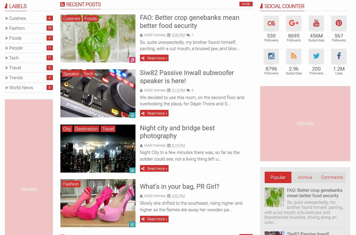 SNews Premium Blogger Template Terbaru V.1.4.3