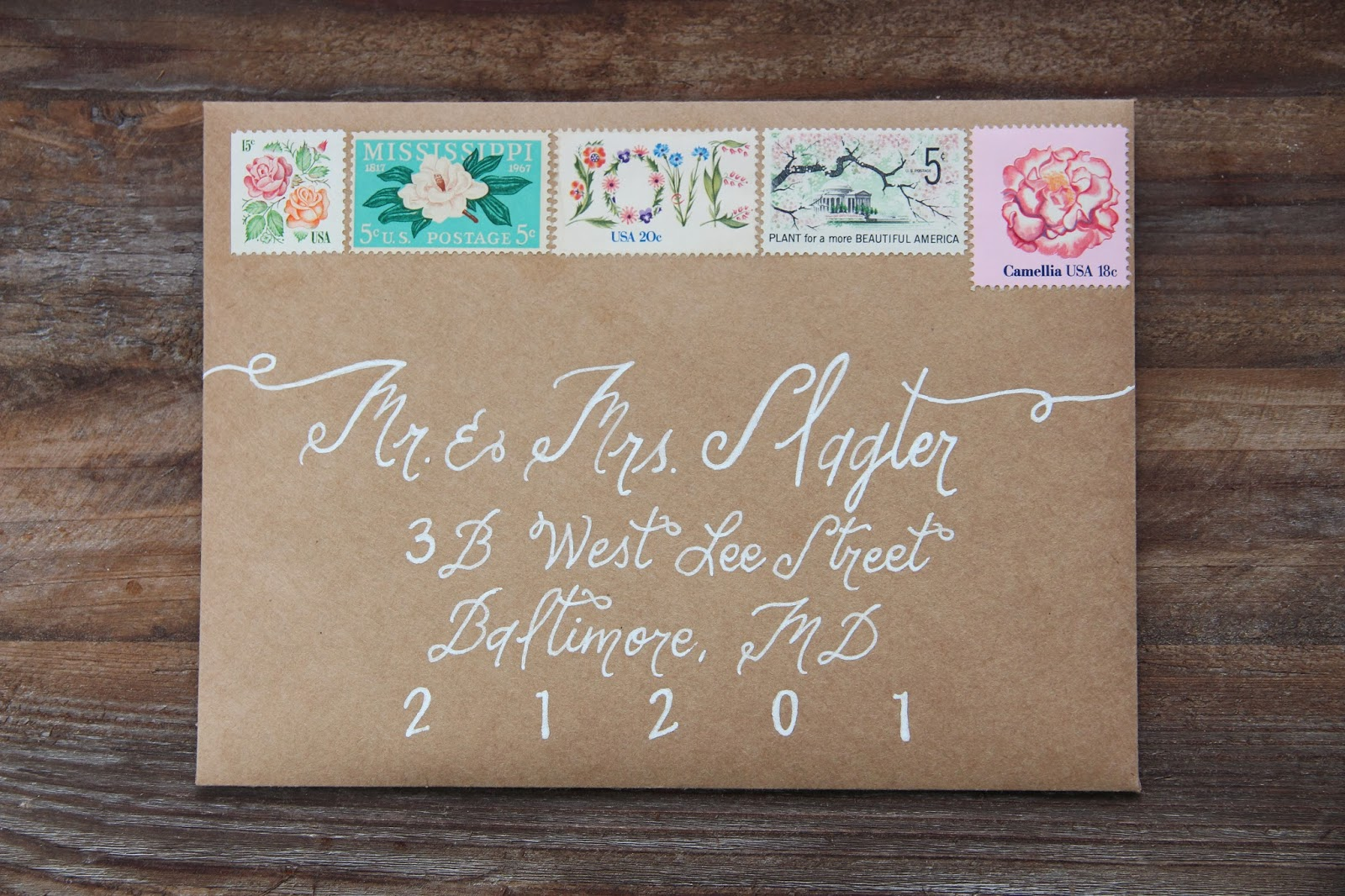 Wedding Invitations Vintage Stamps