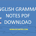 English Grammar Hand Written Notes PDF Download