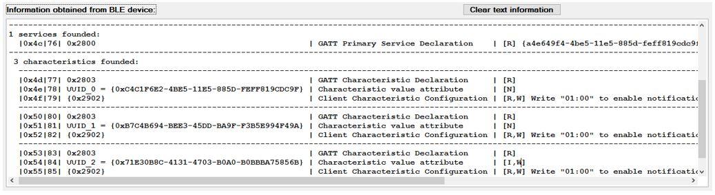 Bluetooth low energy SensorTag: Exploring the GATT table for an