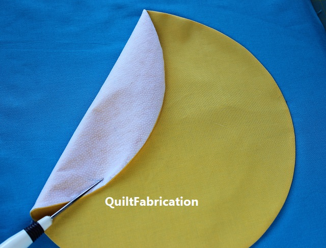 fusible interfacing to attach circle