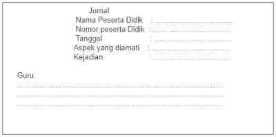Format Jurnal Harian Guru SD, SMP, SMA Kurikulum 2013
