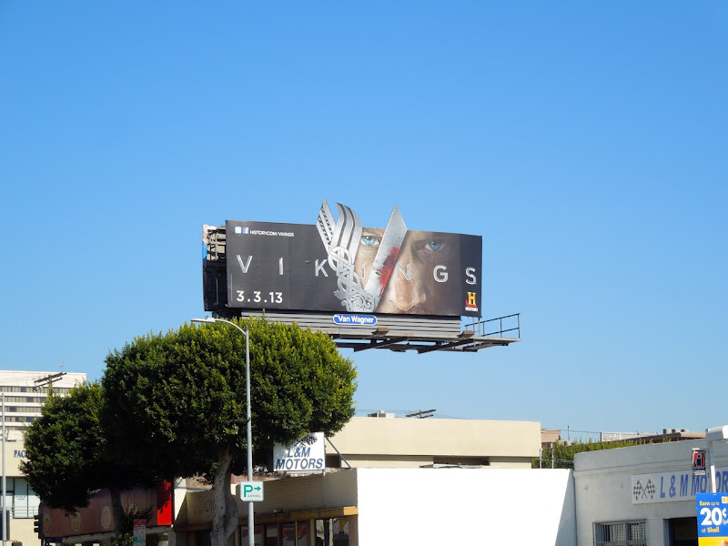 Vikings special extension TV billboard