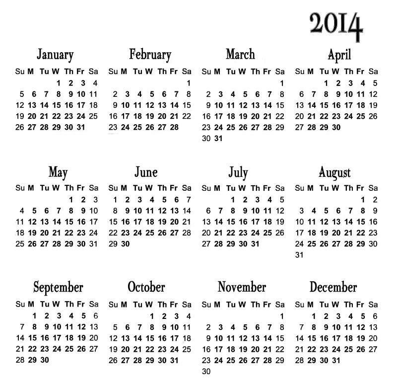 2 month calendar template 2014 - photography blography 2014 yearly calendar templates