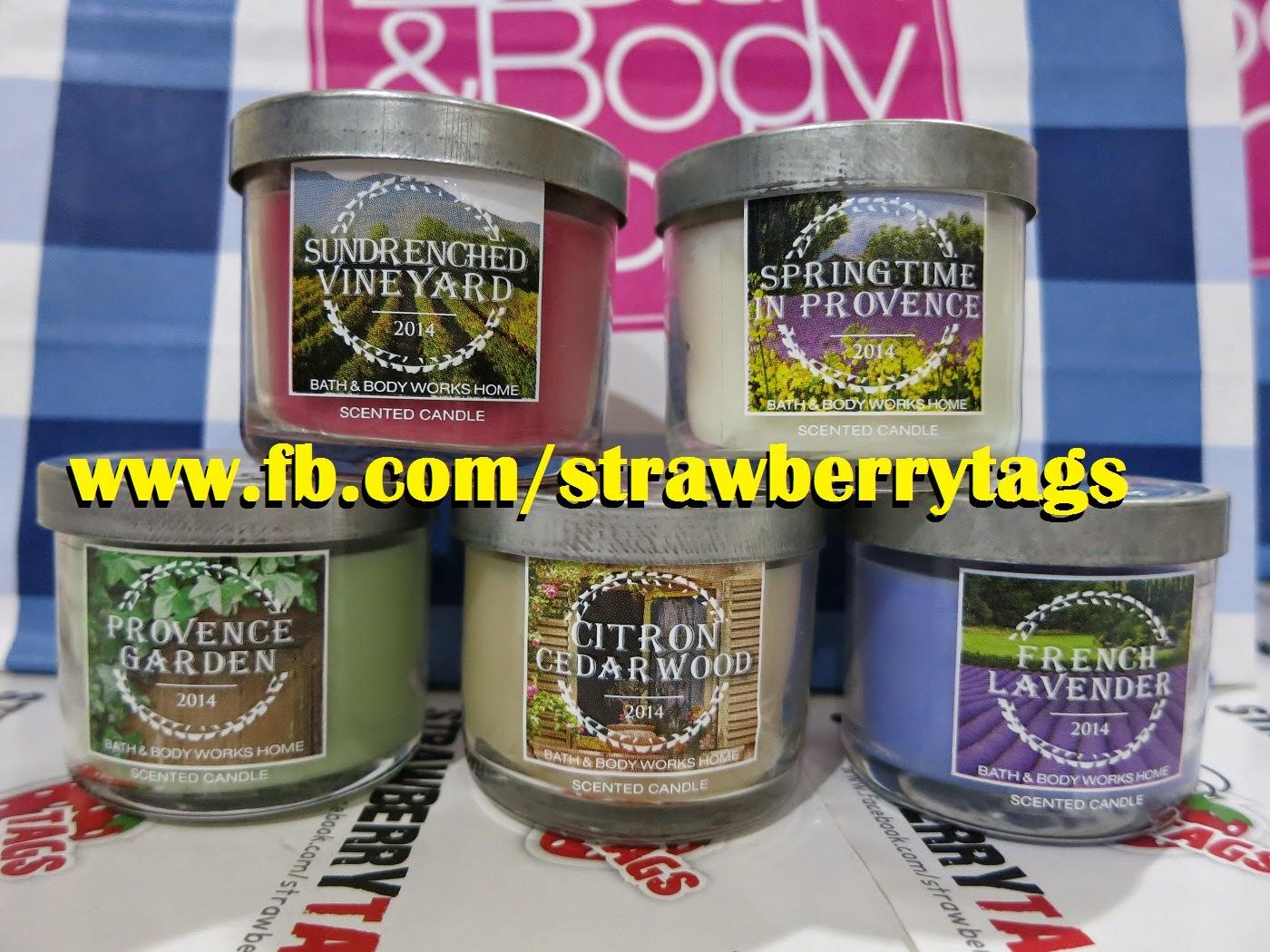 Strawberry Tags Bath Amp Body Works Mini Candle