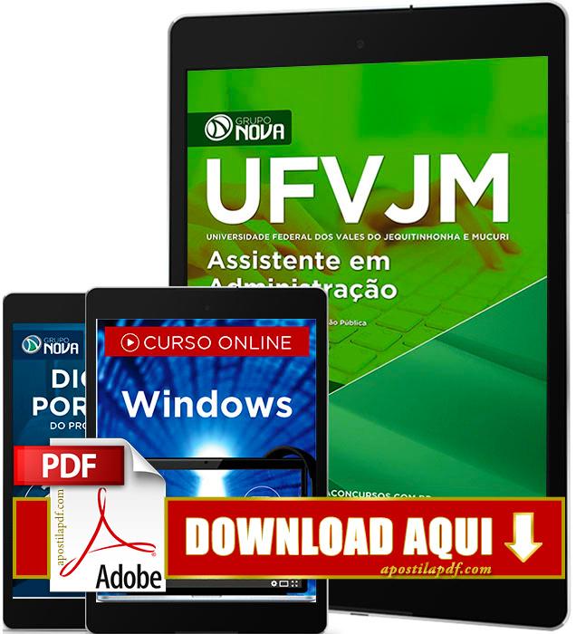 Apostila UFVJM 2017 PDF Download Assistente em Administração