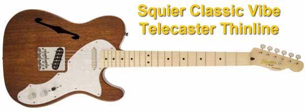 Guitarra Eléctrica Semisólida Squier Classic Vibe Telecaster Thinline