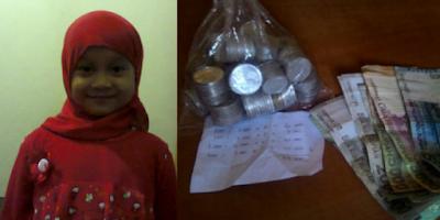 syahidah gadis kecil donasikan tabungannya untuk palestina