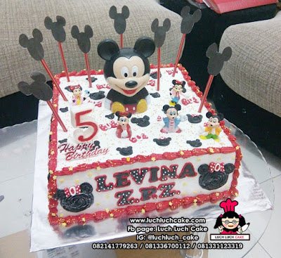 Kue Tart Ulang Tahun Mickey Mouse Lucu