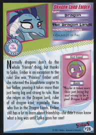 MLP Dragon Lord Ember Series 4 Trading Card