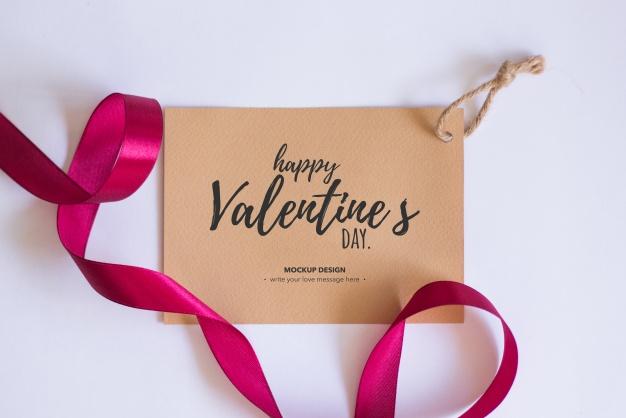 Valentine elements mockup Free Psd