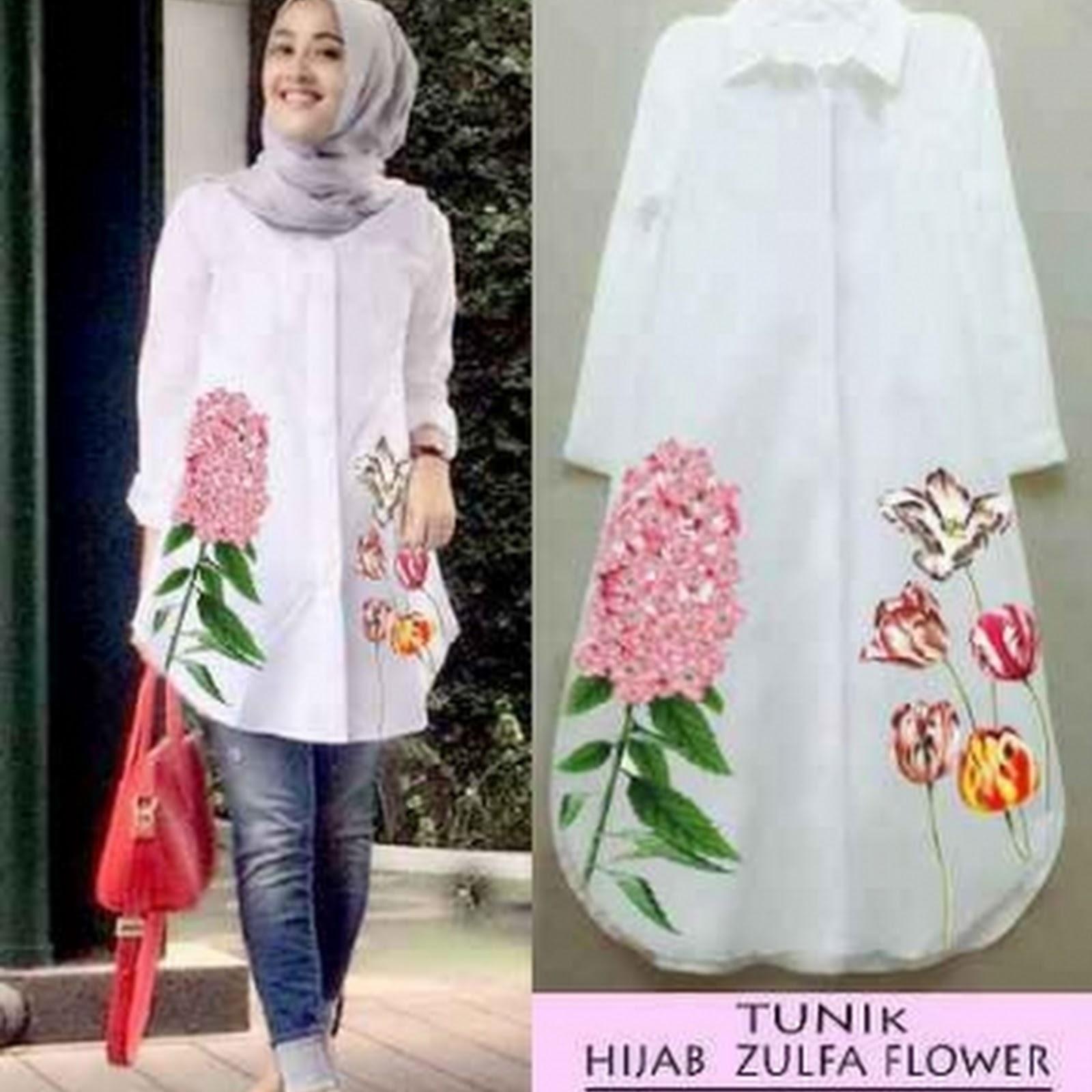 Baju Muslim Atasan Wanita Model Tunik Kemeja Terbaru 17449ba443