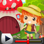 G4K Cute Girl Rescue From Garden House Game Walkthrough