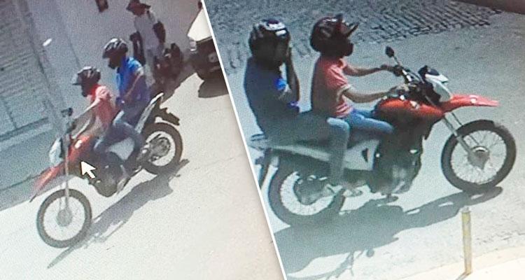 Os assaltam fugiram sentido o bairro Vitorino Gomes Foto: Reprodução