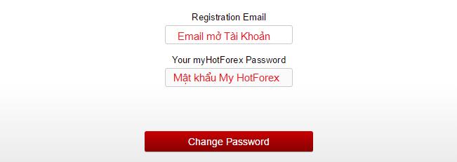 Lấy lại mật khẩu MT4 HotForex