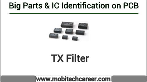 tx filter identification on mobile cell phone smartphone pcb circuit board motherboad | tx filter ki mobile phone pcb par pahchan kaise kare | tx filter की मोबाइल रिपेयरिंग में पीसीबी पर पहचान करना सीखें कार्य व खराबियाँ | मोबाइल रिपेयर करना हिन्दी में सीखें | PCB पर All IC पहचान