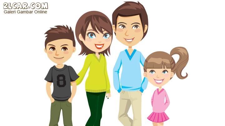 96 Gambar Kartun Keluarga Bahagia Di Rumah Keren Cikimm Com