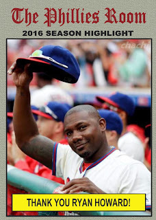 Farewell Ryan Howard, So Long 2016 Phillies, Bring on 2017! #ChachiNow