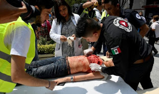 Σοκάρουν οι εικόνες από το νέο ισχυρό σεισμό στο Μεξικό [photos]