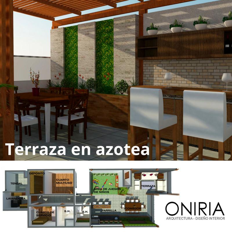 Oniria dise o de terraza en azotea for Jardin en azotea diseno