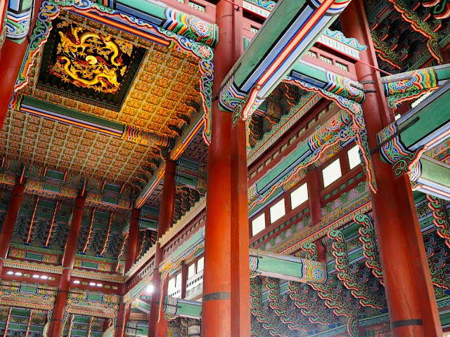 Interior of Gyeongbokgung palace, Seoul, South Korea