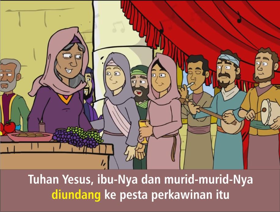 Komik Alkitab Anak Tuhan Yesus Mengubah Air Menjadi Anggur - Perkawinan Kana, Gereja Kana Ziarah Tempat Mukjizat Pertama Kali Yesus Di Israel