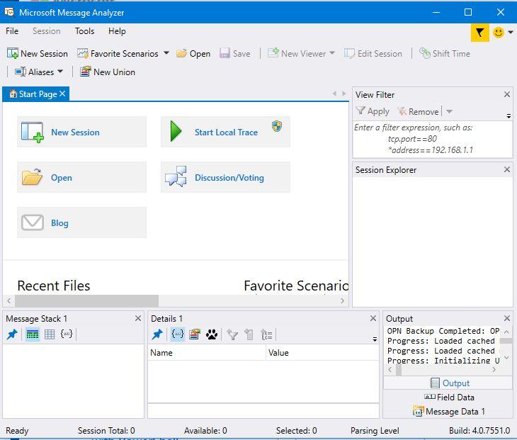 HodentekMSSS: Microsoft Message Analyzer