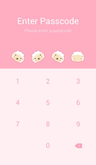 Simple cute white sheep theme