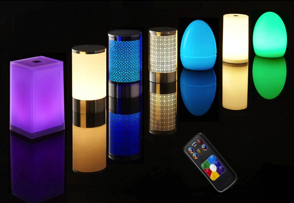 midlightsun lampes de table led sans fil rechargeables. Black Bedroom Furniture Sets. Home Design Ideas