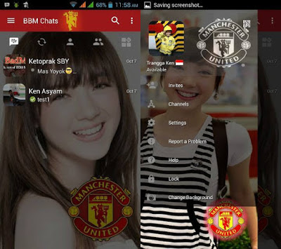BBM Change Background With Manchester United (BBM MU) v3.0.1.25 MOD APK
