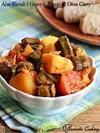 Aloo Bhindi, Okra And Potato Curry, Vendakkai Uralai Curry