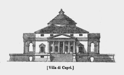 Palladio's Villa Capra or Villa Rotunda from The gallery of portraits with memoirs by AT Malkin (1836)