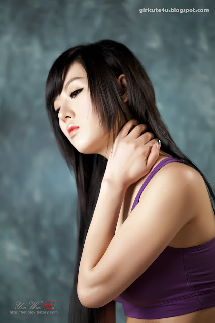 10 Hwang Mi Hee-Purple Sport Bra-very cute asian girl-girlcute4u.blogspot.com