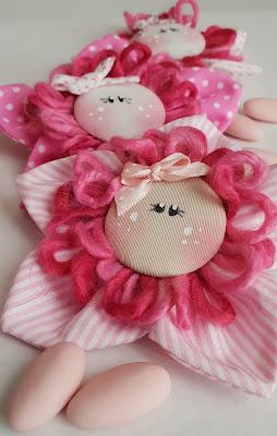 faccina fiore bomboniera cotone righe pois
