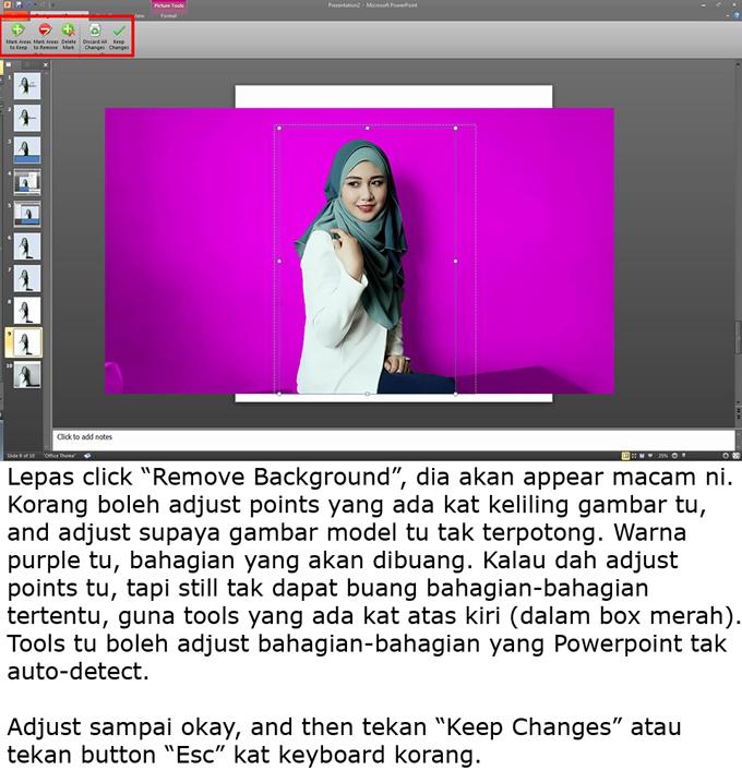 Tatacara Edit Gambar Guna Powerpoint
