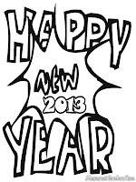 Happy New Year 2013 Coloring Pages