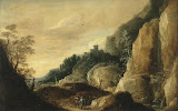 Mountainous Landscape by David Teniers II - Landscape Paintings from Hermitage Museum