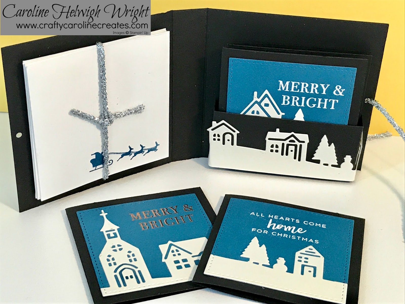 CraftyCarolineCreates: Christmas Card Set with Hearts Come Home by ...