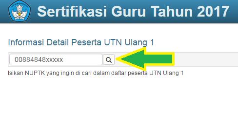 gambar cara cek daftar dan jadwal TUK peserta UTN 2017