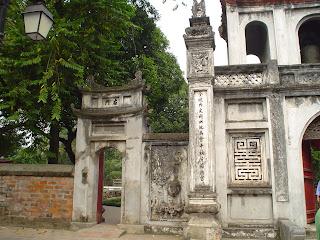 Porta di accesso letteratura tempio Hanoi (Vietnam)