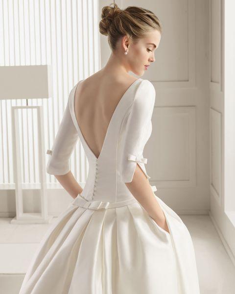 vestidos con manga de encaje
