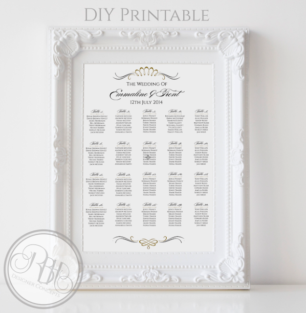 gold black elegant art deco wedding seating chart-anneliese