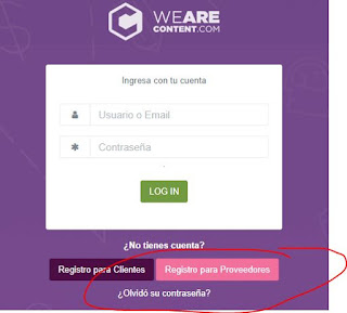 opinion sobre we are content registro