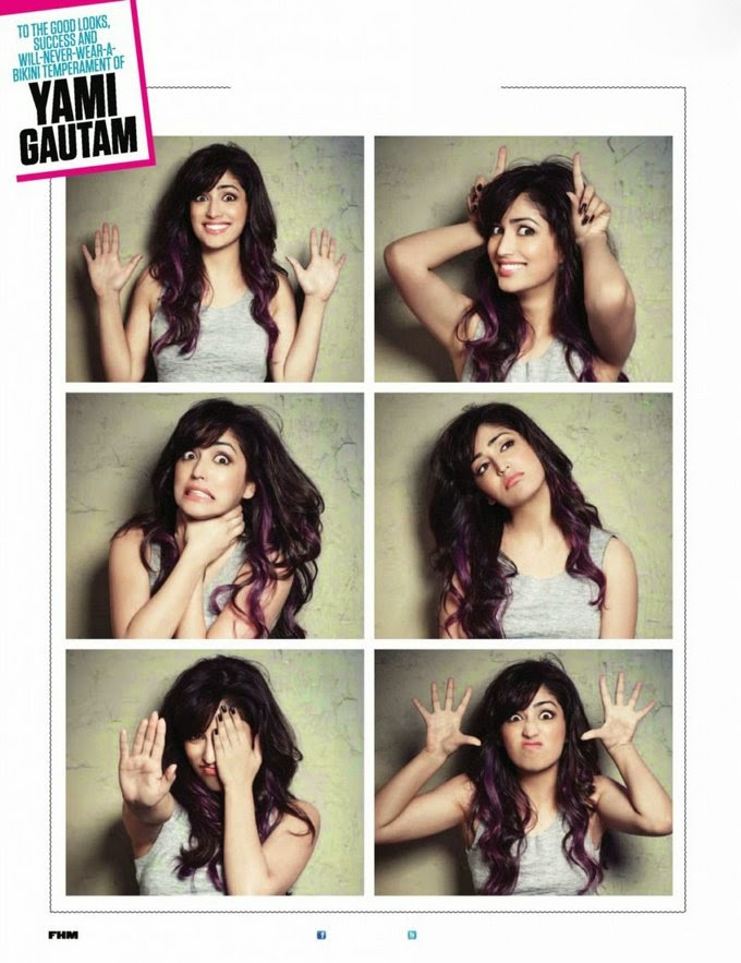 Yami Gautam photos collage in FHM Magazine