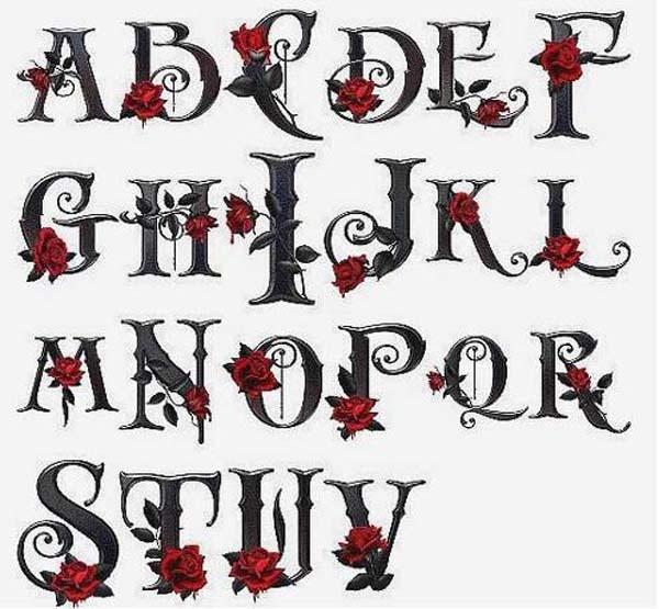 Christmas Graffiti Letters.Graffiti Alphabet Letters A Z Gothic Rose Graffiti Tutorial