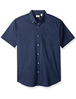 Buy Men's Comfort Stretch Soft No Wrinkle Short Sleeve Button Front Shirt